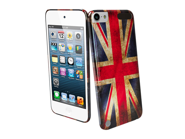 muvit gb flag back vintage case hoes voor ipod touch 5g 6g