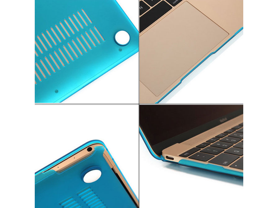 MacBook 12 inch Cover Hard Case (Blauw)
