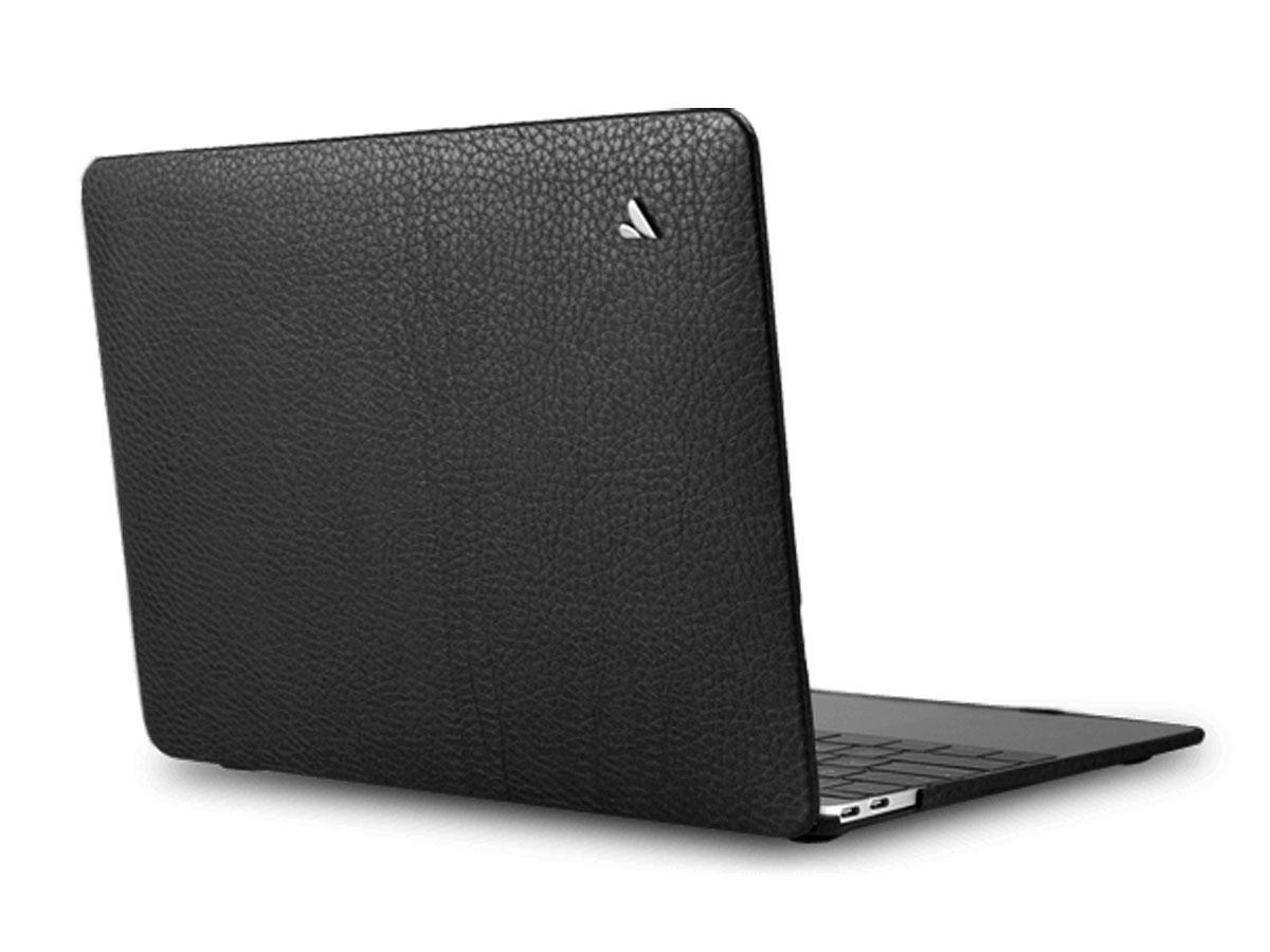 Vaja Suit Leather Case Zwart - Leren MacBook Air 13