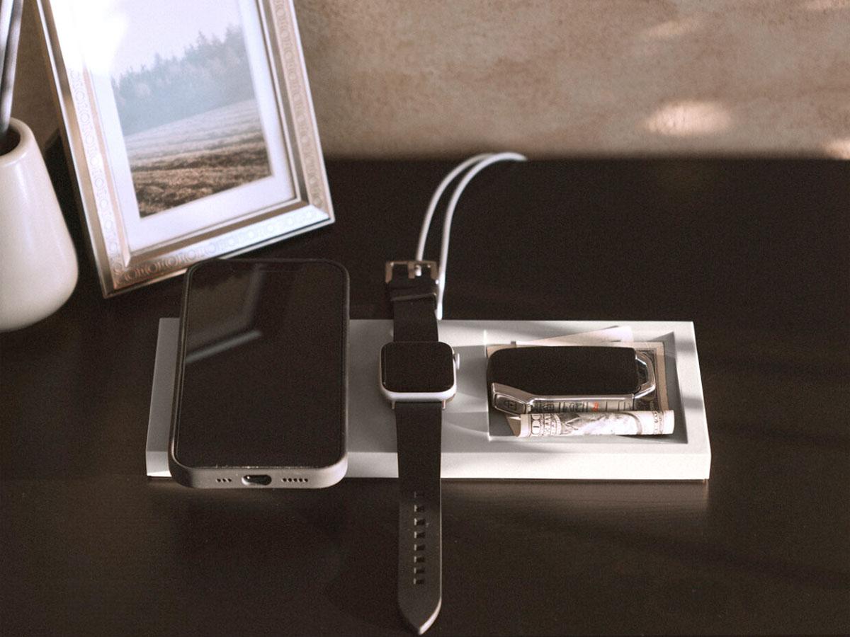 Elago Duo Tray voor MagSafe iPhone & Apple Watch - Stone