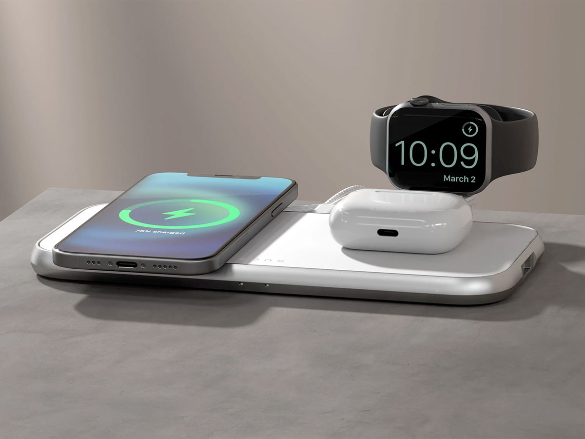 Zens Aluminium 4-in-1 MagSafe Wireless Charger incl. Watch