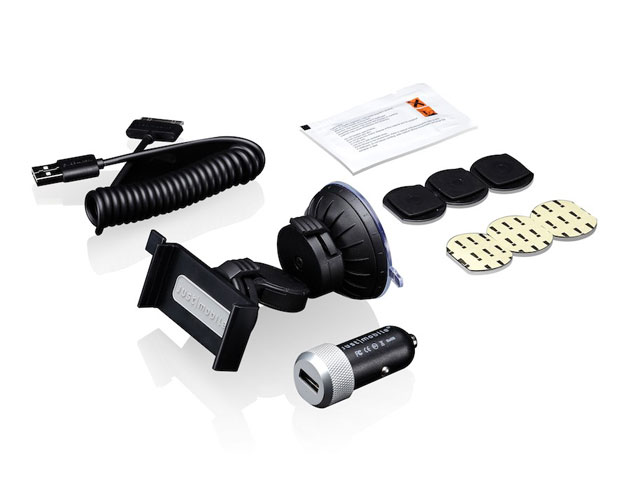 Just Mobile Deluxe Vehicle Kit: Xtand Go + Highway 12V Lader