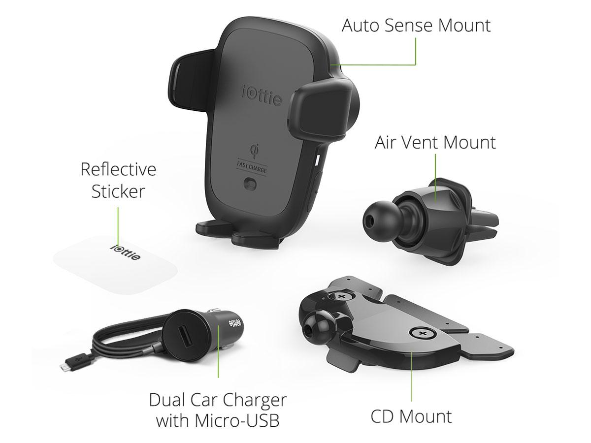 iOttie Auto Sense CD/Vent - Sensor Autohouder met Draadloze Oplader