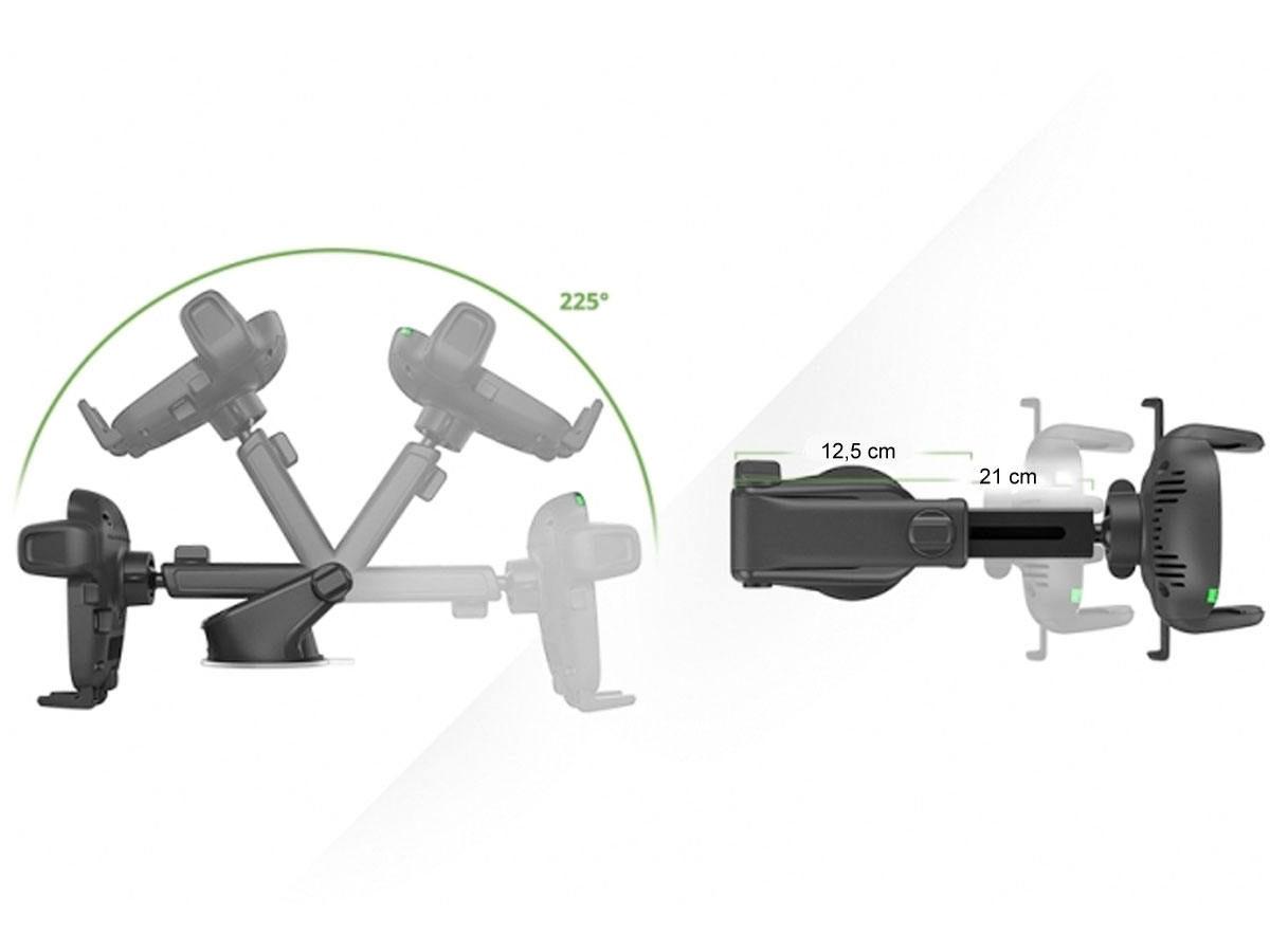 iOttie Easy One Touch Wireless - Autohouder met Qi Oplader