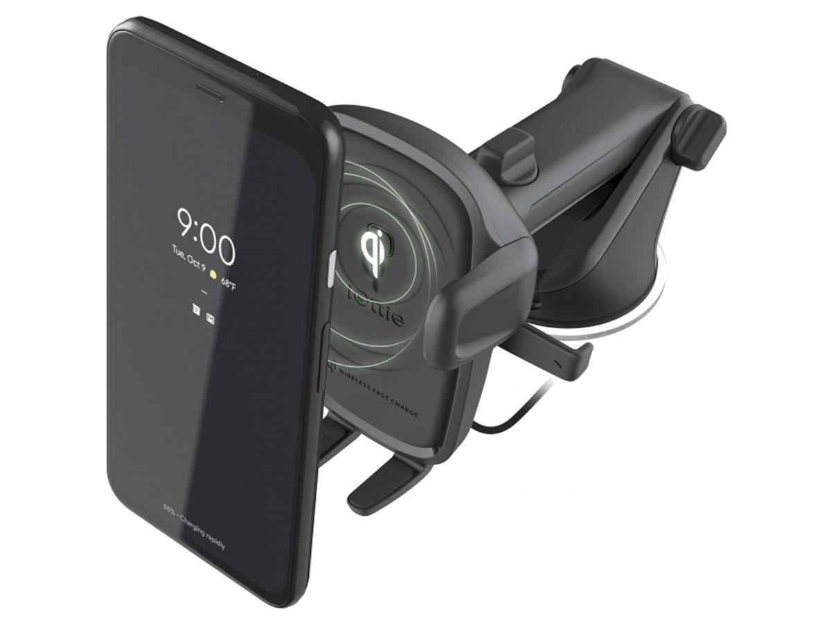 iOttie Easy One Touch Wireless - Autohouder met Qi Oplader Zwart