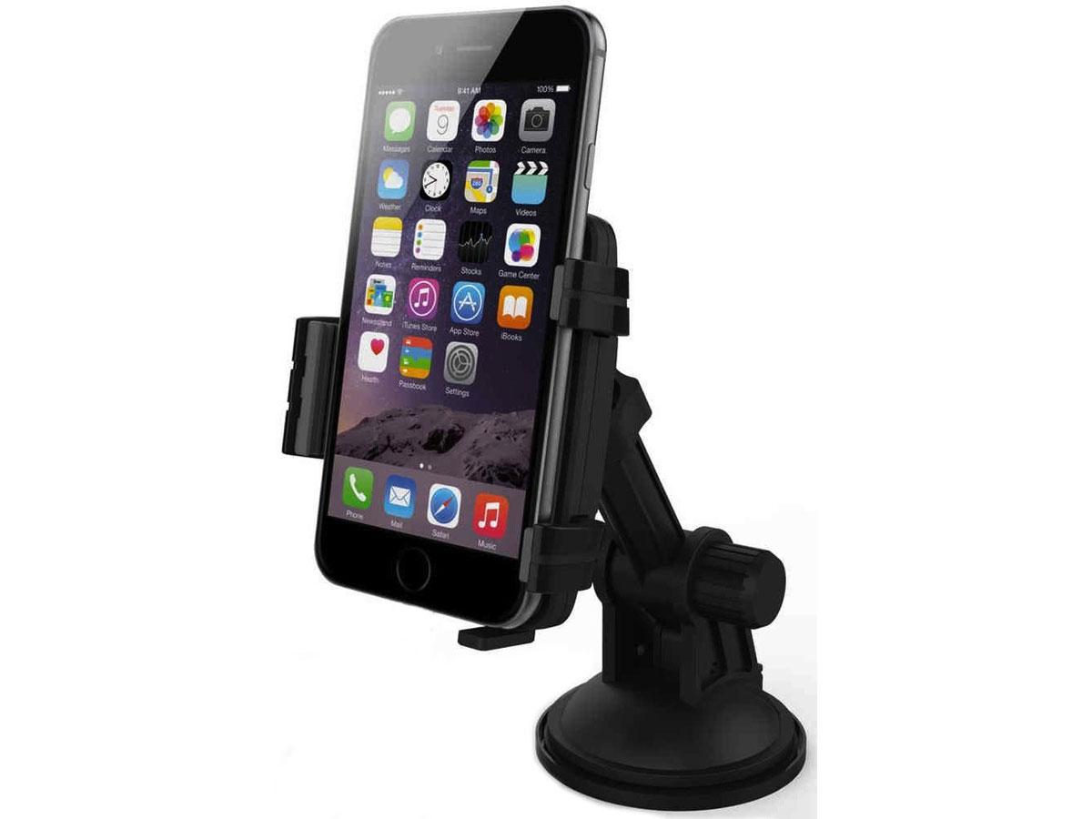 KiDiGi Autohouder incl. 12V Lightning Autolader voor iPhone Zwart