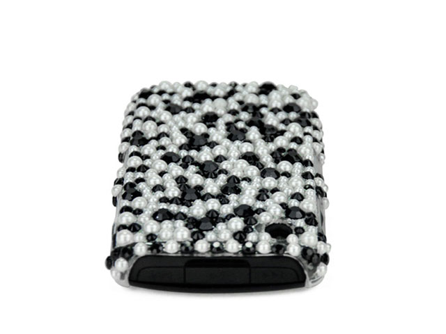 Black & White Pearl Back Case Blackberry 8520/9300