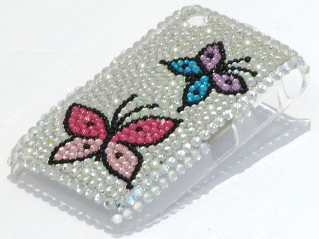Butterfly Diamond Case voor Blackberry Curve 8520/9300
