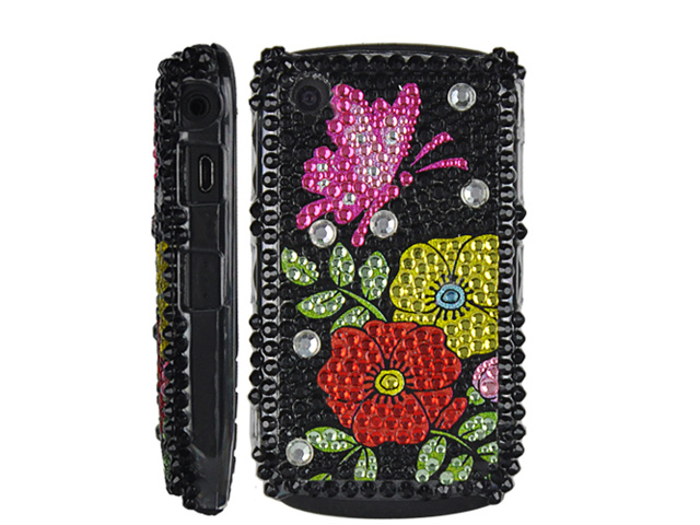 Butterfly Flower Case Hoes Blackberry 8520/9300