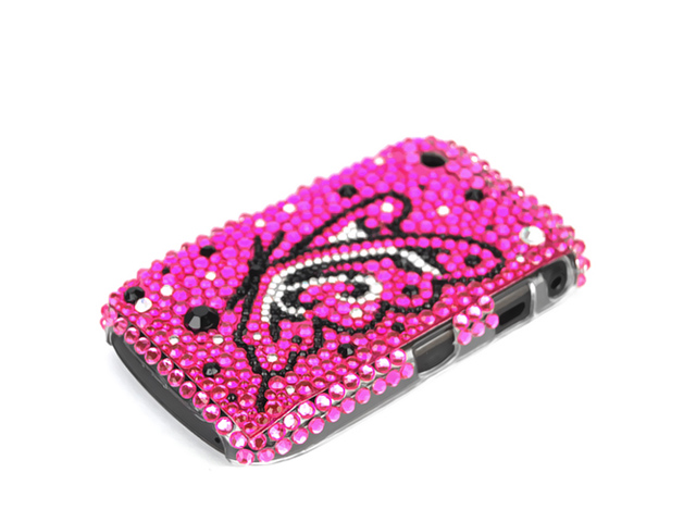 Colorful Butterfly Case Hoes Blackberry 8520/9300