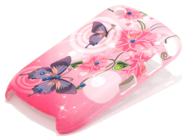 Crystals Sweet Butterflies Case voor Blackberry Curve 8520/9300