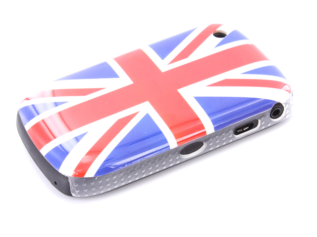 GB Flag Back Case Hoes Blackberry Curve 8520/9300