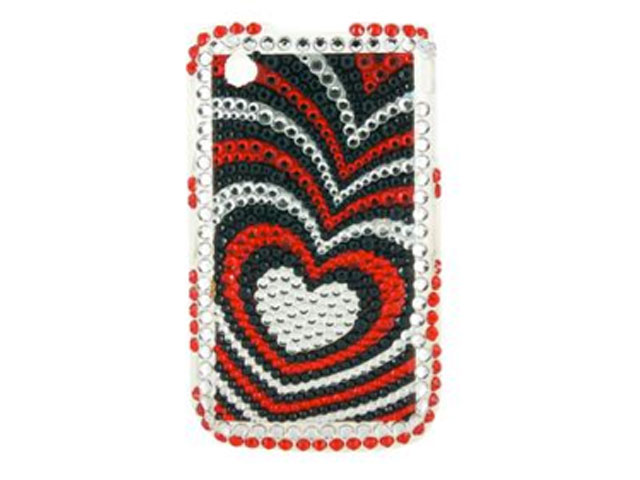 Black Hearts Diamond Case Blackberry 8520/9300