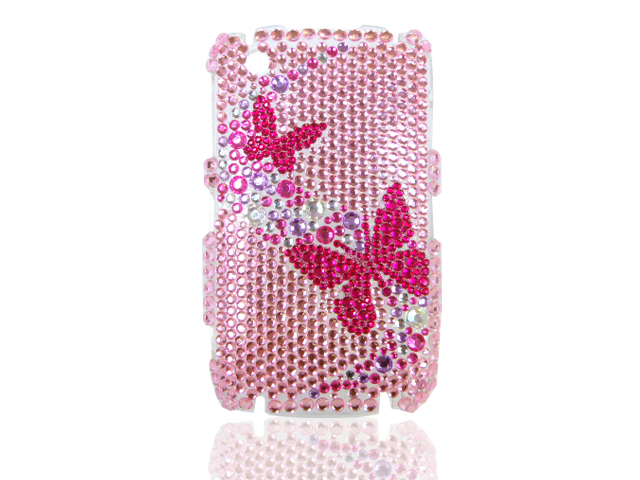 Blackberry Curve 8520 Butterflies Diamond Case