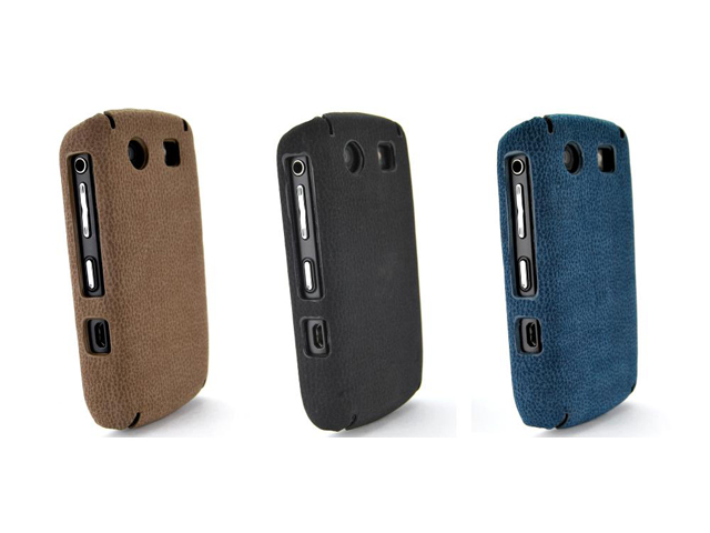 Leather Back Case voor Blackberry Curve 8900