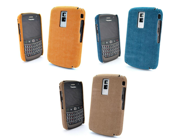 Leather Back Case voor Blackberry Bold 9000