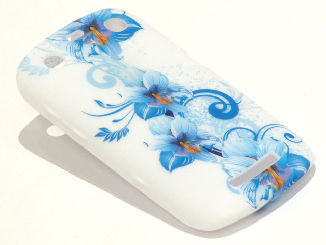 Blue Flowers TPU Case Hoesje Blackberry Curve 9360