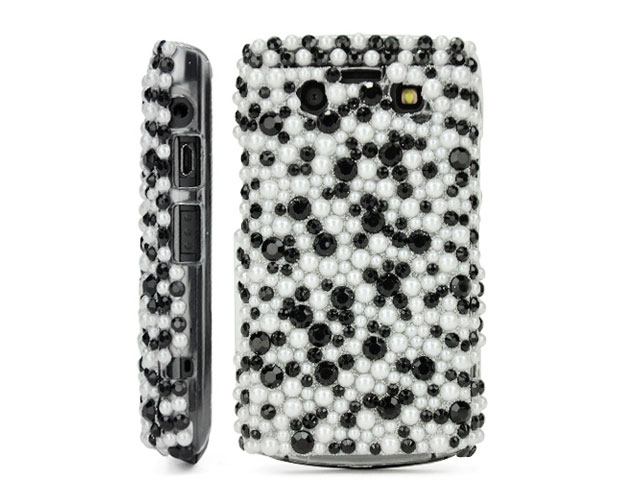 Black & White Pearl Back Case Blackberry 9700/9780