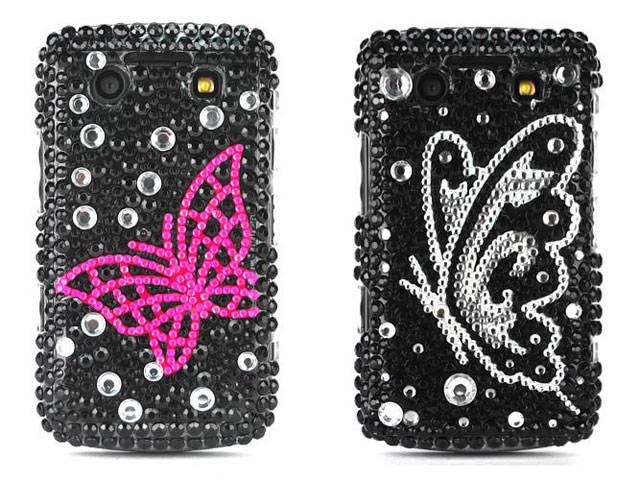 Butterfly Diamond Case Hoes Blackberry 9700/9780