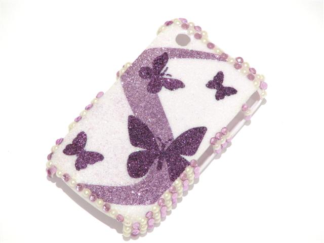Butterfly Sparkle Case Hoes Blackberry 8520/9300