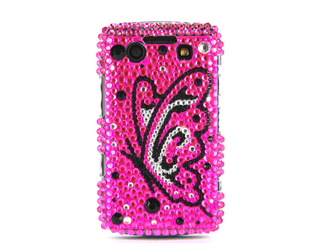 Colorful Butterfly Case Hoes Blackberry 9700/9780