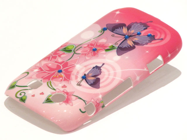 Crystals Sweet Butterflies Case voor Blackberry Torch 9860