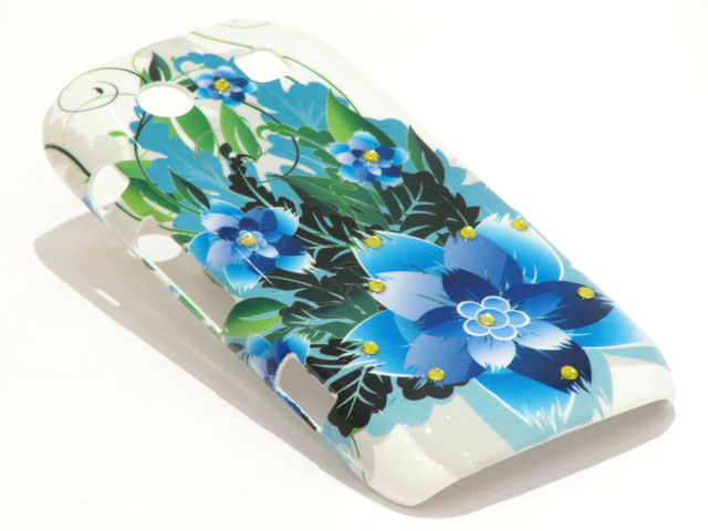 Crystals Tropic Flowers Case voor Blackberry Torch 9860