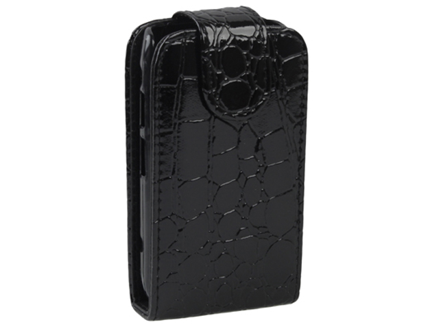 Croco BottomFlip Case Hoes Blackberry Bold 9900