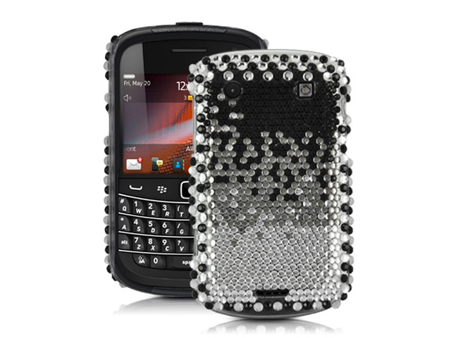 Black to Silver Case Hoes Blackberry Bold 9900