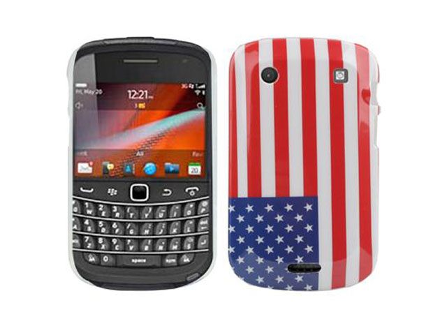 Flag Back Case Hoes voor Blackberry Bold Touch 9900
