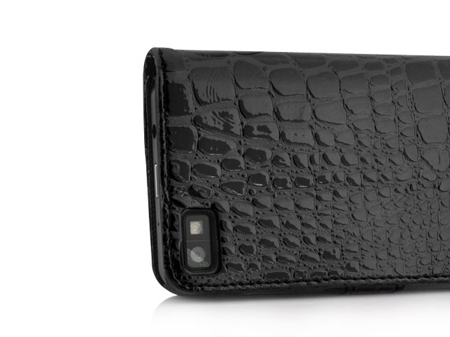 Croco Sideflip Wallet Case voor Blackberry Z10