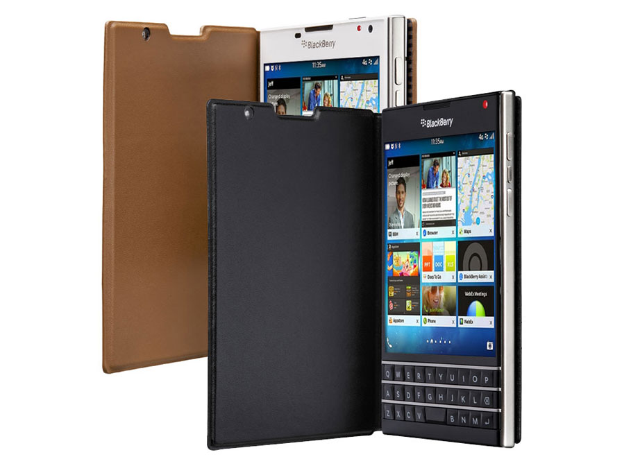 Blackberry Passport Leather Flip Case Hoesje