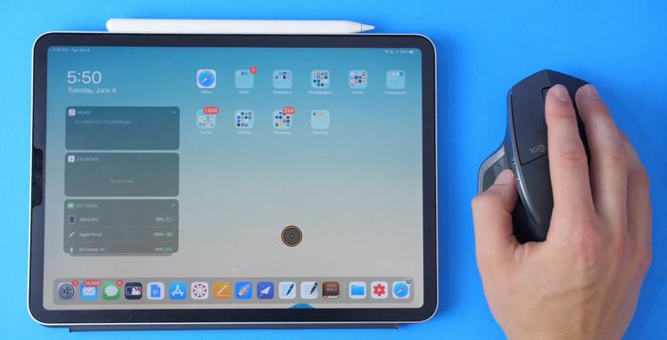 iPad met Muis gebruiken