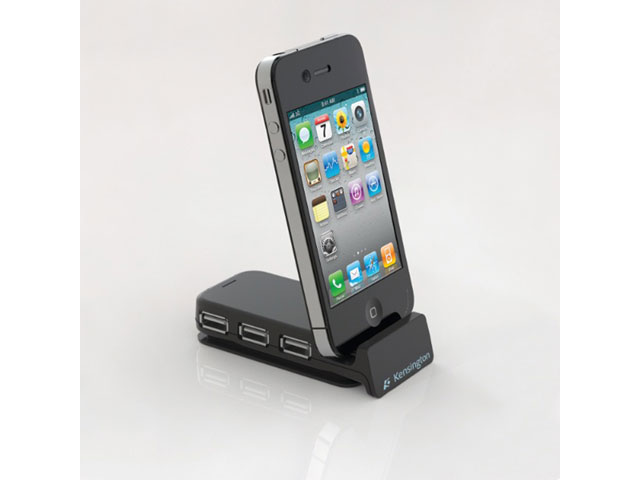 Kensington PocketHub - USB Hub met geïntegreerd iPhone dock