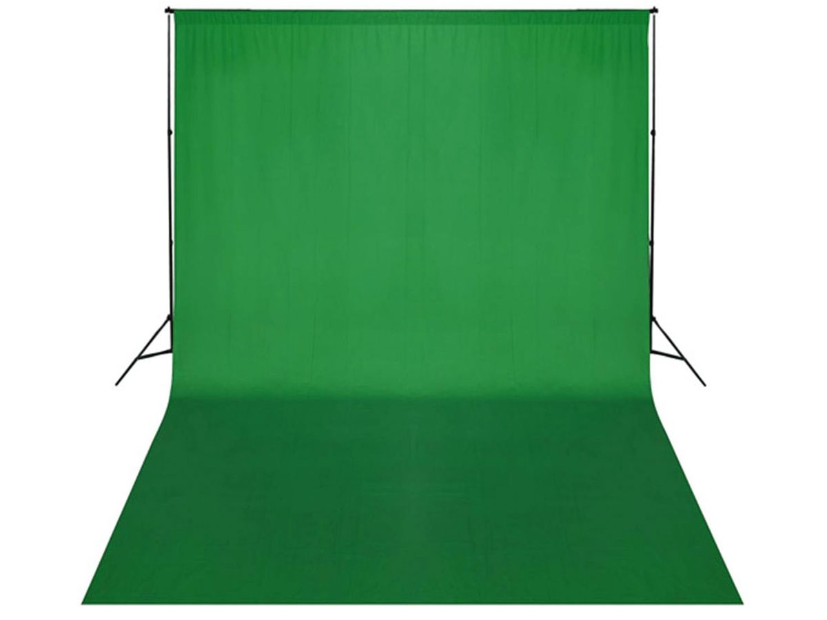 Green Screen 3 x 2 meter Incl Ophangsysteem en Draagtas