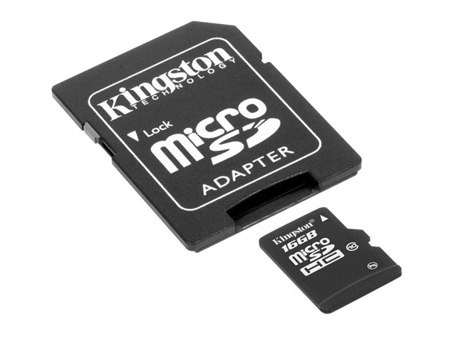 Kingston 16GB Micro-SD Geheugenkaart (Class 10)