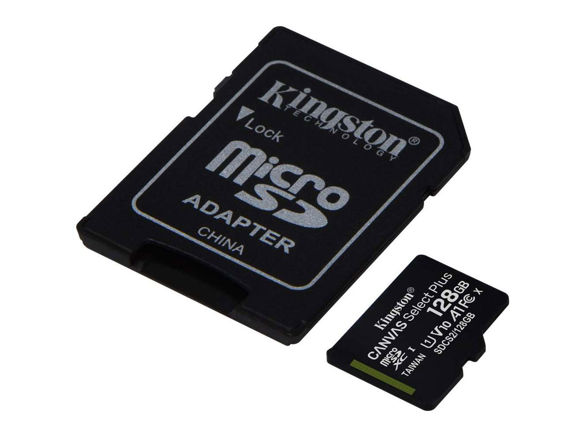 Kingston 128GB Micro-SD Geheugenkaart - Class 10 UHS-I Zwart