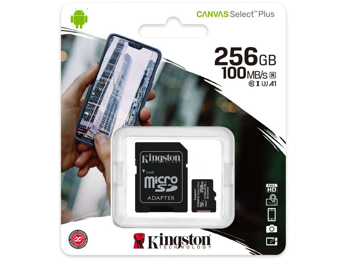 Kingston 256GB Micro-SD Geheugenkaart - Class 10 UHS-I