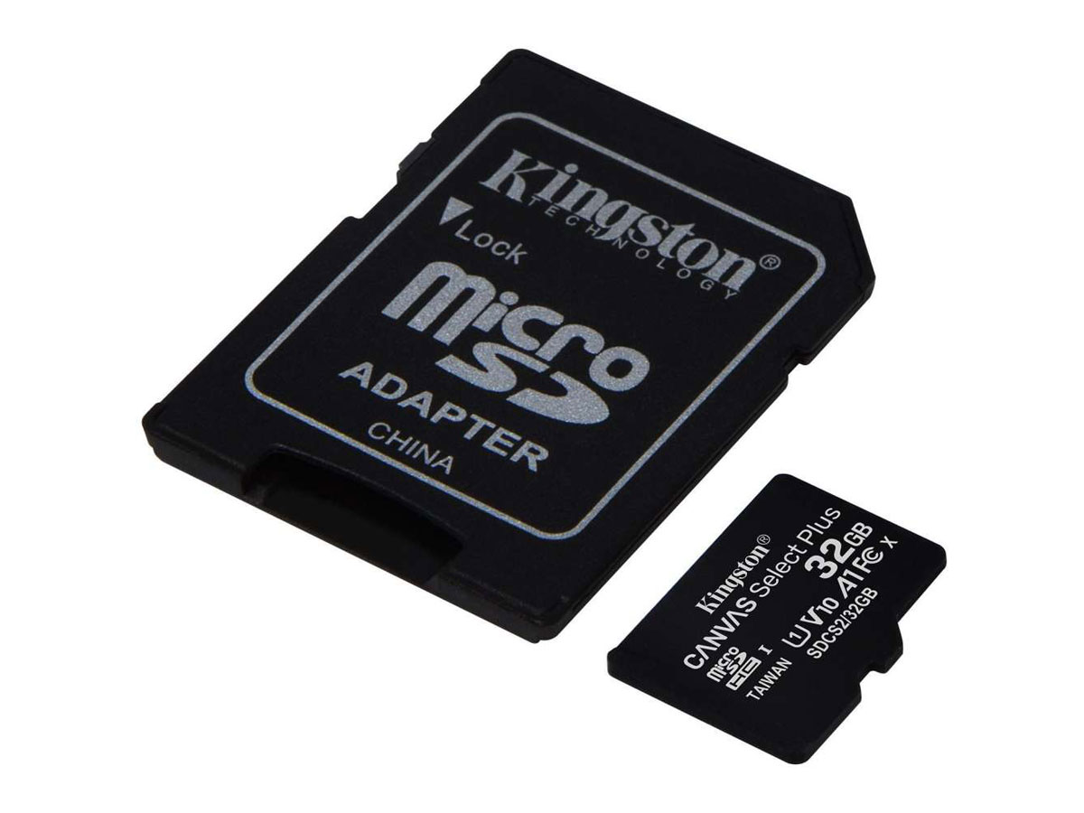 Kingston 32GB Micro-SD Geheugenkaart - Class 10 UHS-I Zwart