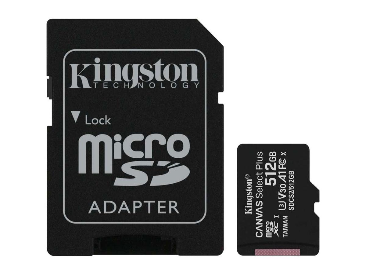 Kingston 512GB Micro-SD Geheugenkaart - Class 10 UHS-I