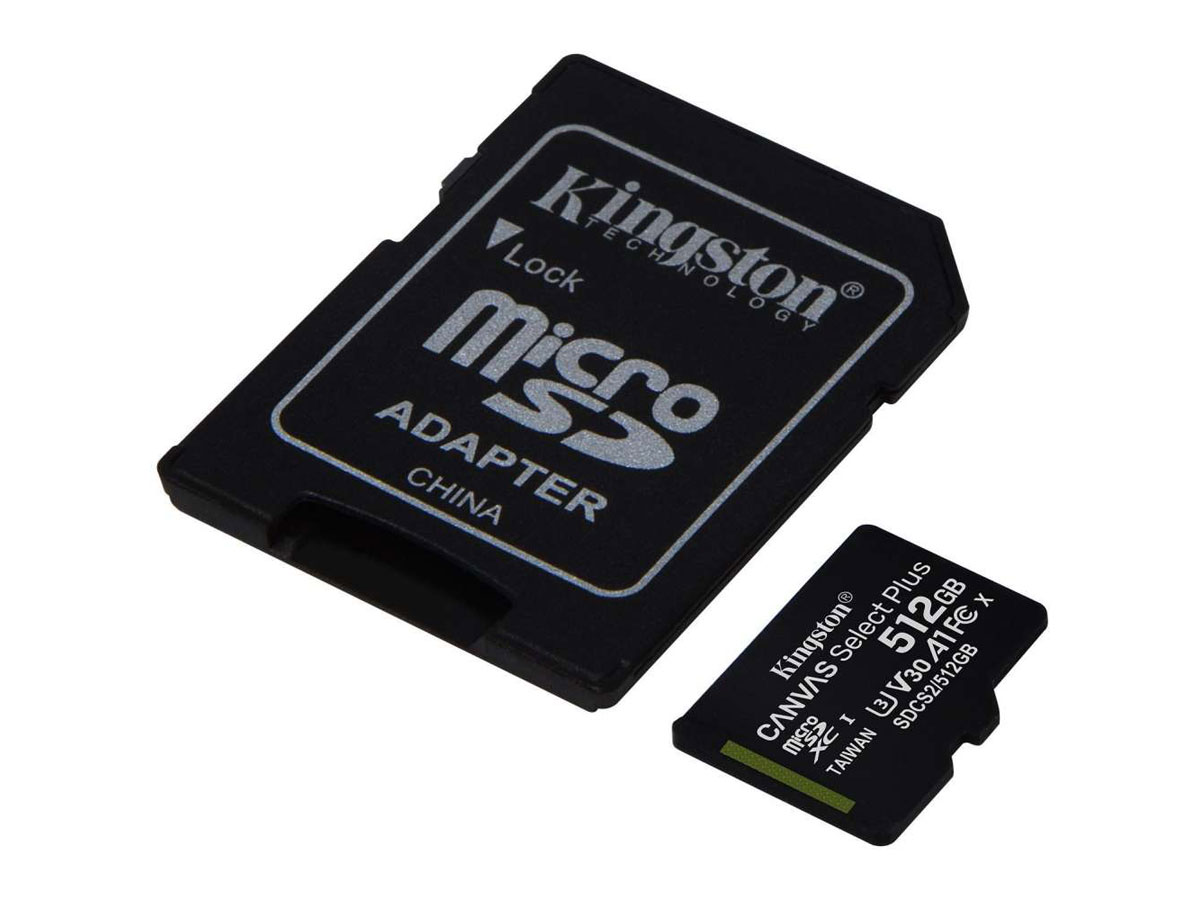 Kingston 512GB Micro-SD Geheugenkaart - Class 10 UHS-I Zwart