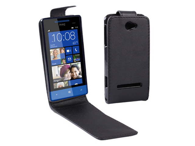 Business Leather Flip Case voor HTC 8S