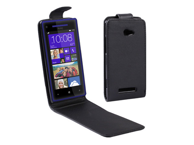 Business Leather Flip Case voor HTC 8X