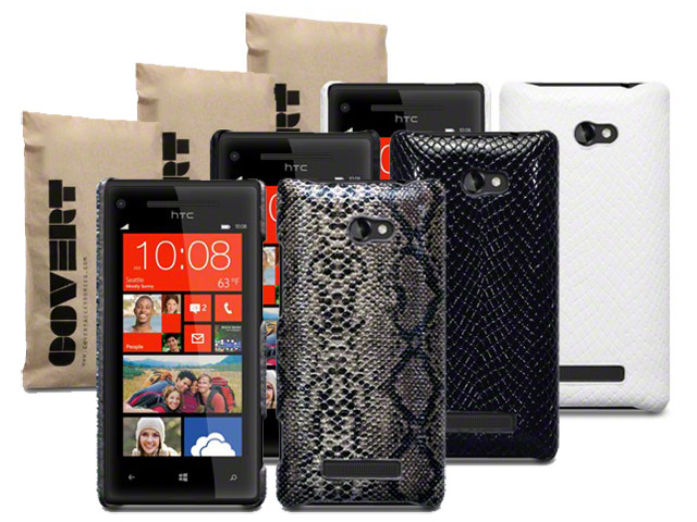 Covert Snake Skin Back Case Hoesje voor HTC 8X
