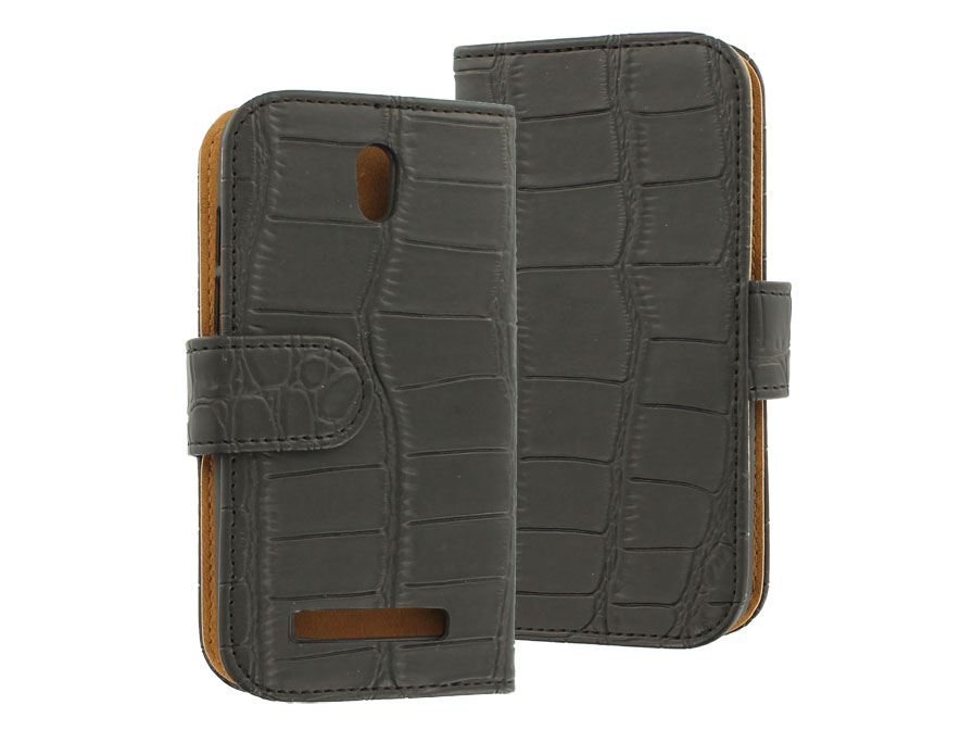 Croco Book Case Hoesje voor HTC Desire 500