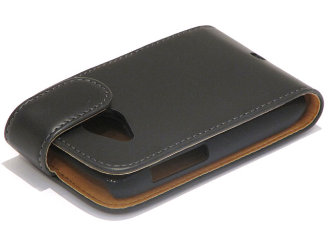 Classic Leather Flip Case voor HTC Desire C