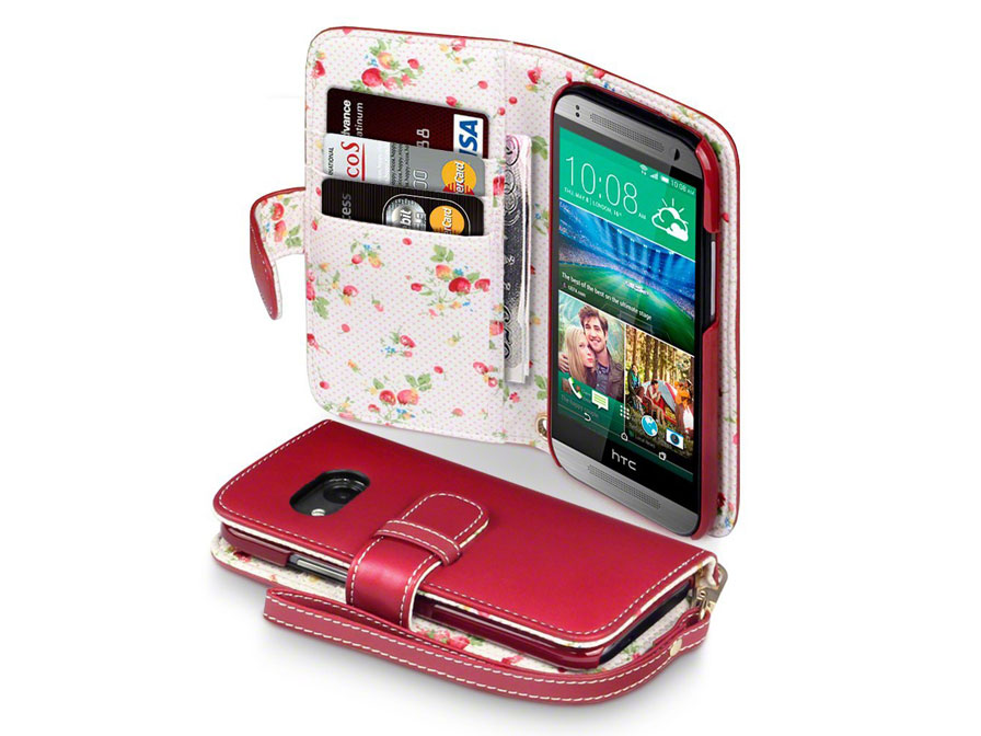 CaseBoutique Flower Wallet Case - Hoesje voor HTC One Mini 2