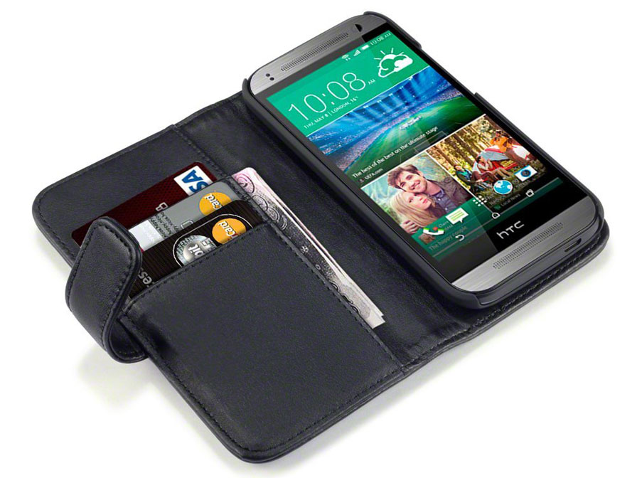 CaseBoutique Leather Wallet Case - Hoesje voor HTC One Mini 2