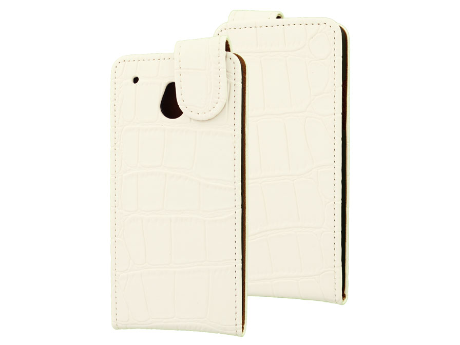Croco Flip Case Hoesje voor HTC One Mini
