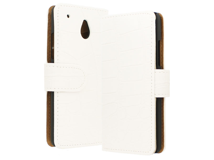 Croco Book Case Hoesje voor HTC One Mini (M4)